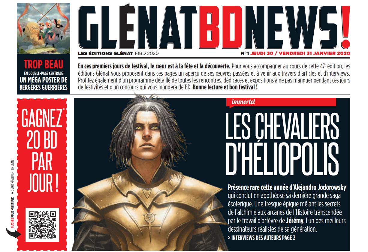 Glénat BD News FIBD 2020 - 1ère édition