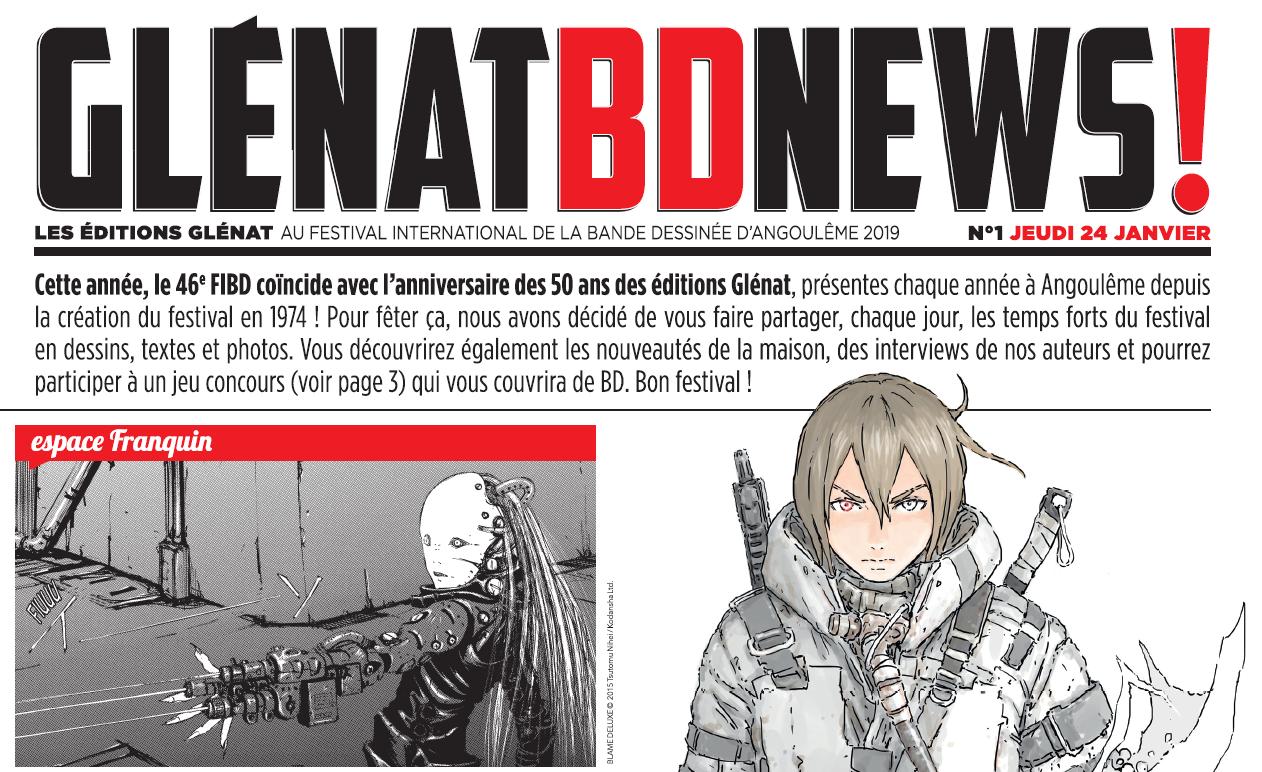 Glénat BD news