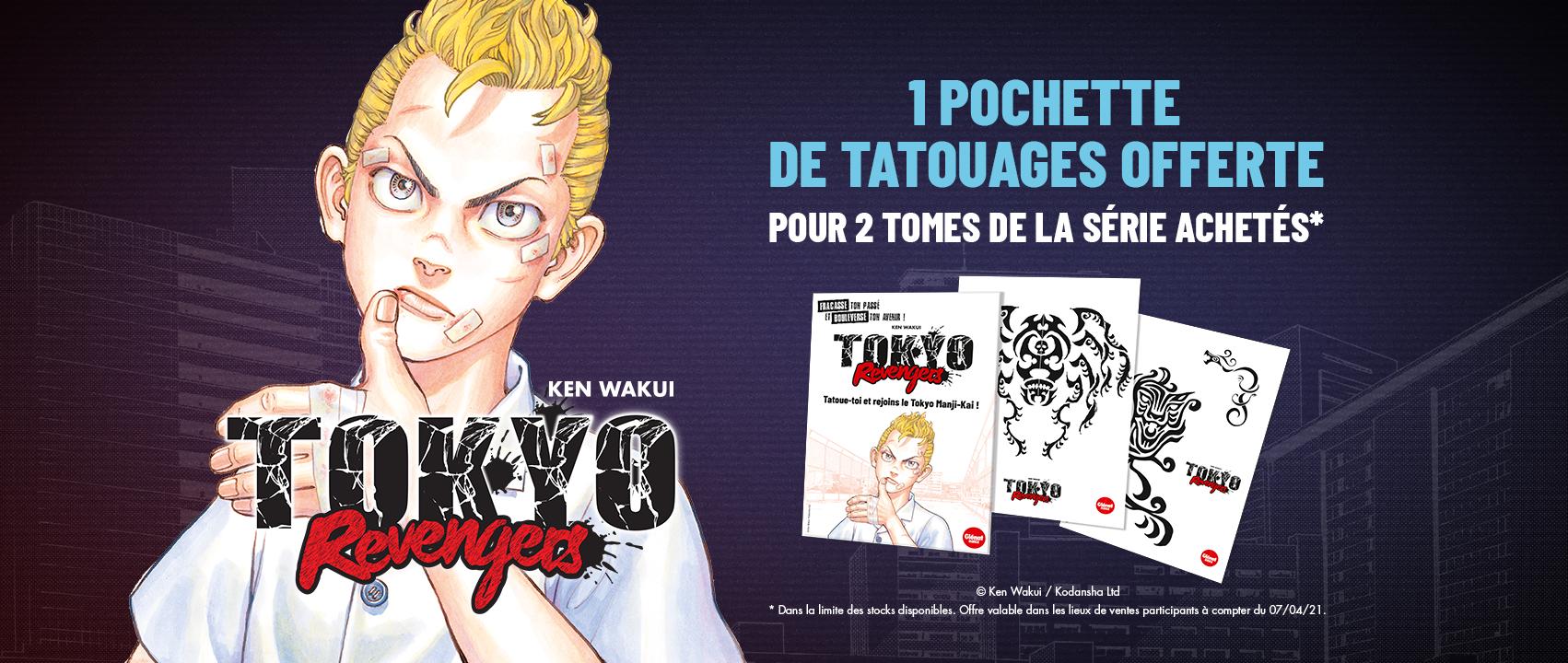 Des planches de tatouages Tokyo Revengers OFFERTES !