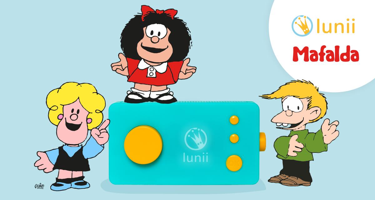 Mafalda arrive dans Ma Fabrique à Histoires de Lunii