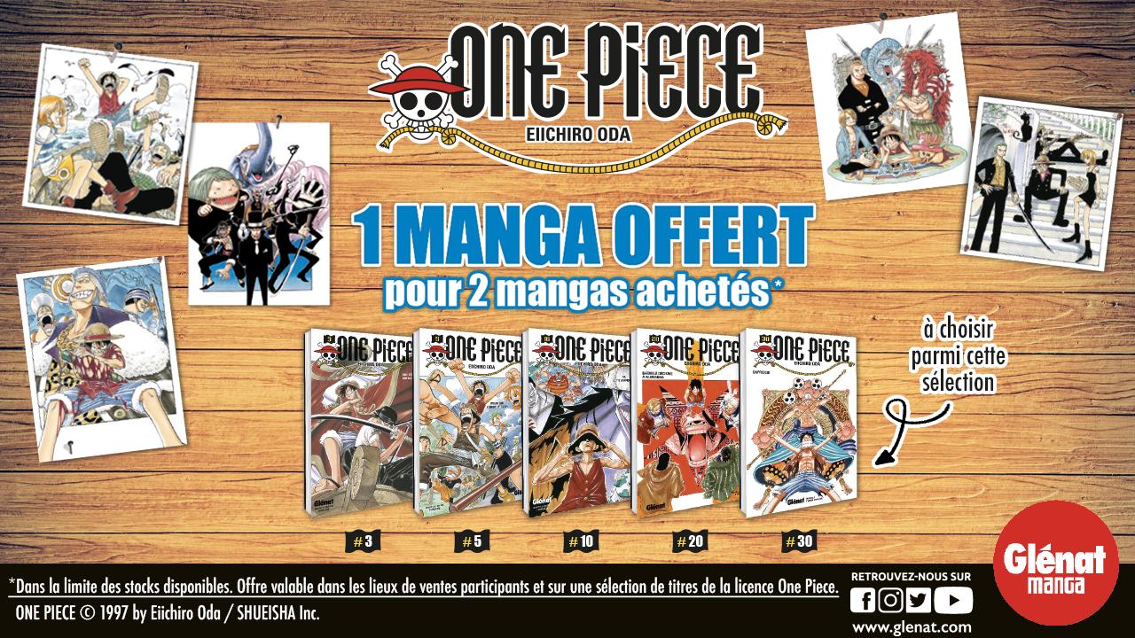 Opération spéciale One Piece : 1 manga offert pour 2 mangas achetés