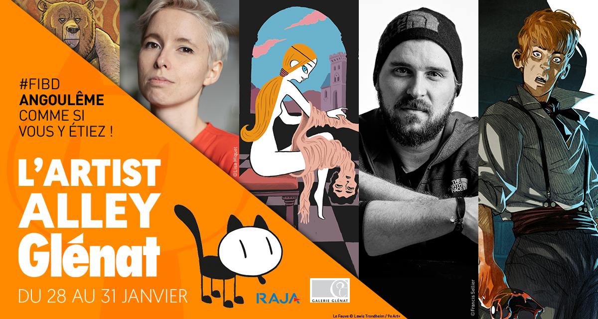L'Artist Alley Glénat #FIBD du 28 au 31 janvier