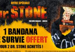 Opération spéciale Dr. Stone : un bandana de survie offert !