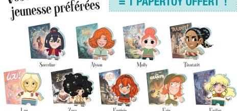 Opération Héroïnes BD jeunesse : un papertoy offert !