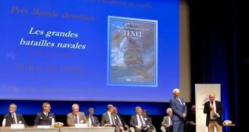 Remise du prix de l'Académie de Marine à Jean-Yves Delitte