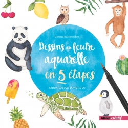 Dessins au feutre aquarelle en 5 étapes