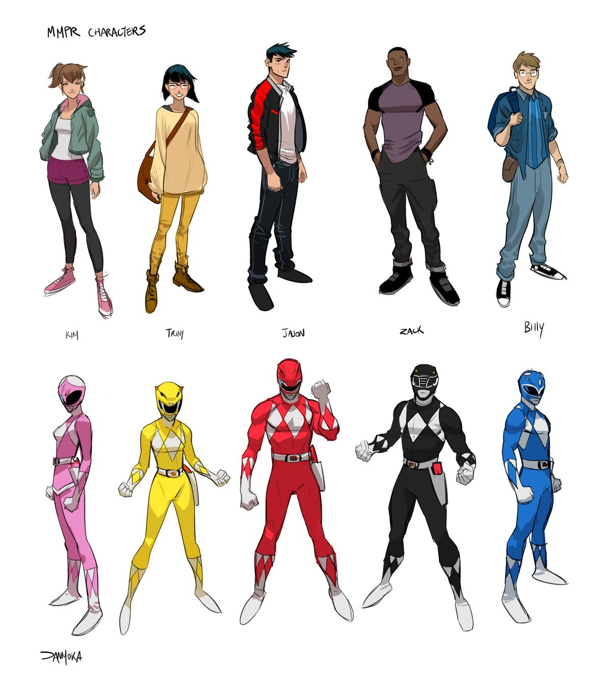 Power Rangers personnages